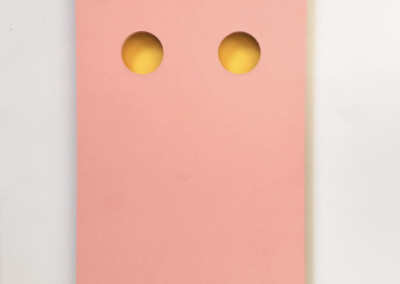 Yellow Holes. Acrylic Paint on MDF.  40cm x 60cm