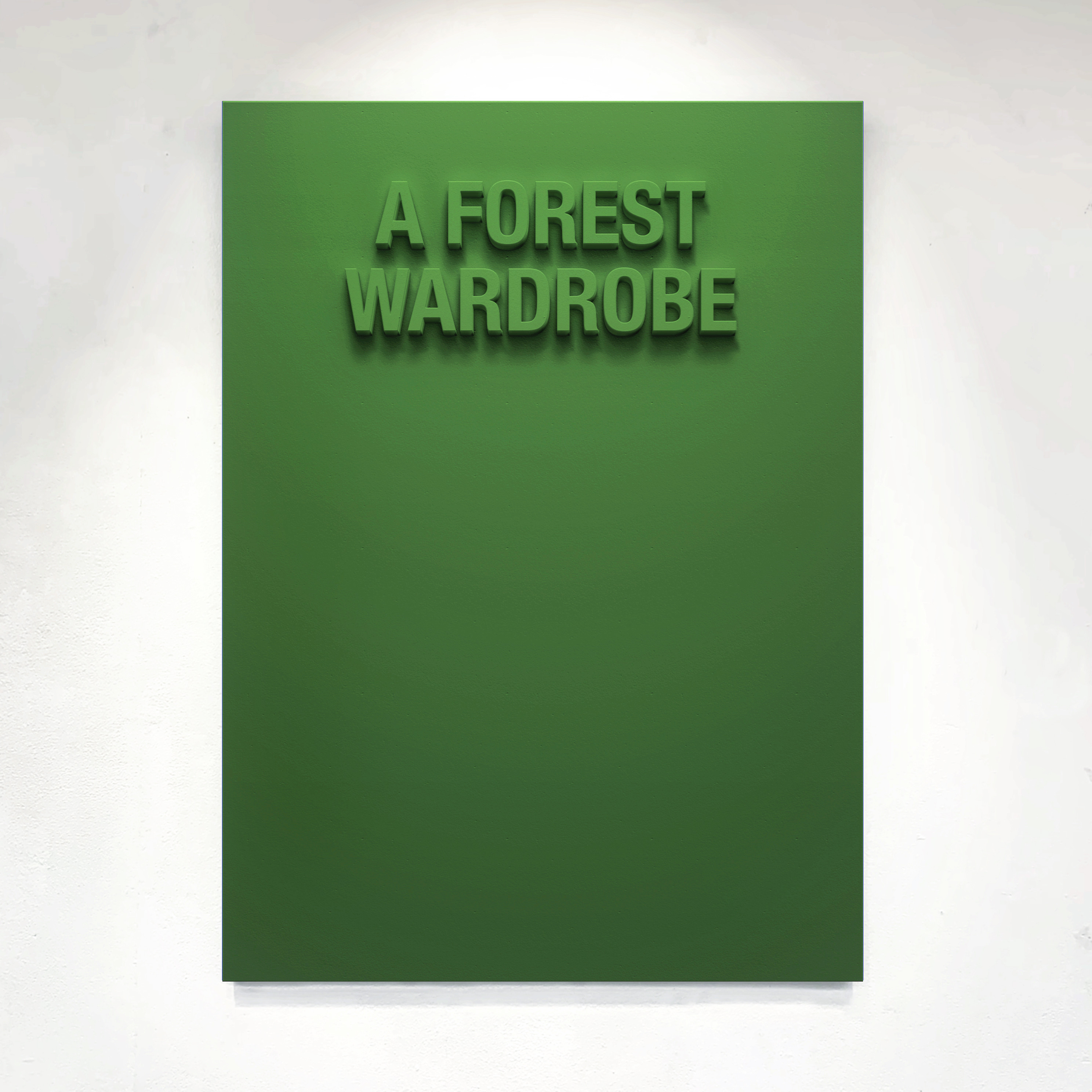 """A Forest Wardrobe"" 110cm x 75cm - Black Medite panel and matt paint."