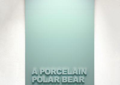 """""""A Porcelain Bear"""" 110cm x 75cm – Black Medite panel with matt paint."""