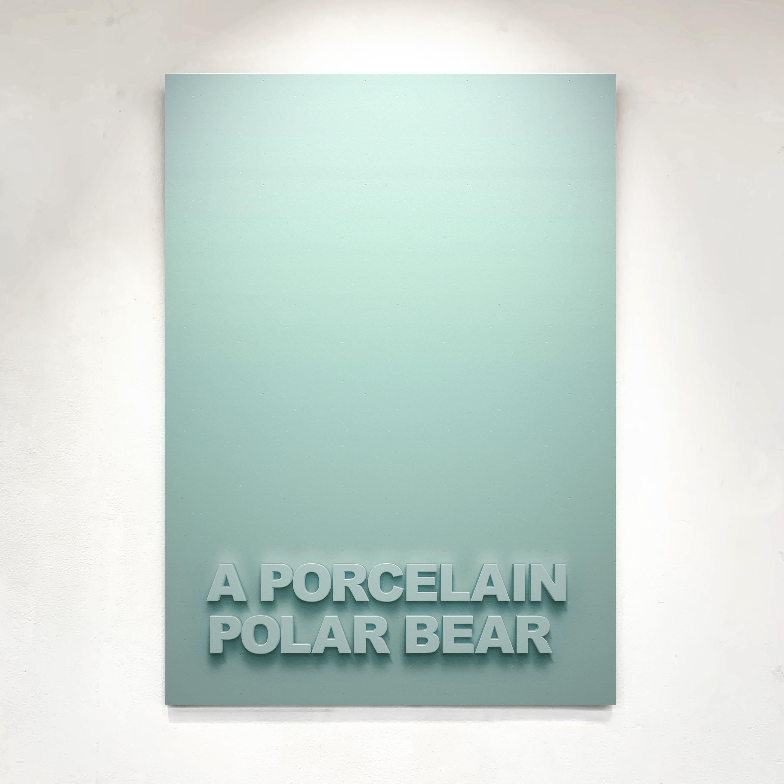 """""""A Porcelain Bear"""" 110cm x 75cm - Black Medite panel with matt paint."""
