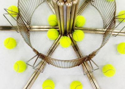 Untitled 2019 (tennis) Installation found objects.