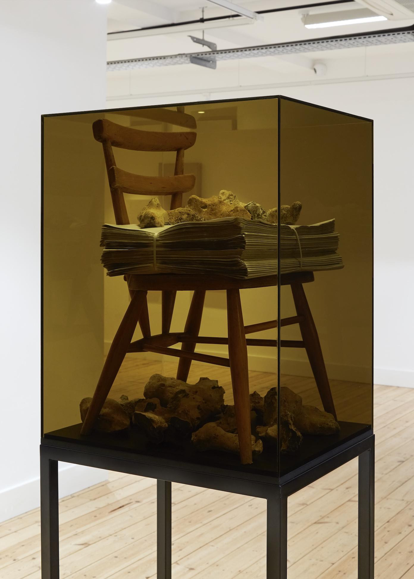 'Memory Storage' Mixed media assemblage and vitrine.