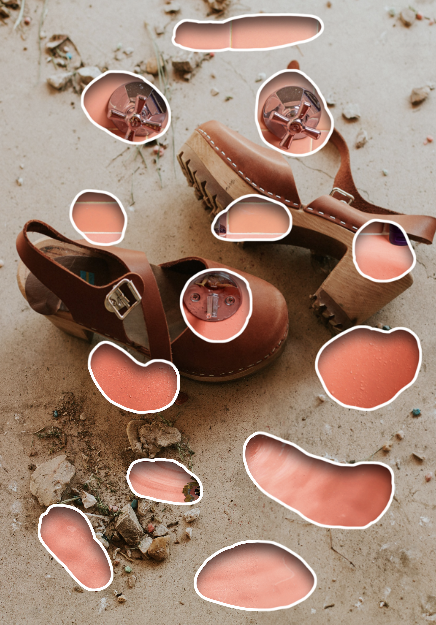 Untitled. (dirt clogs) 2021 Archival print mounted to Dibond.